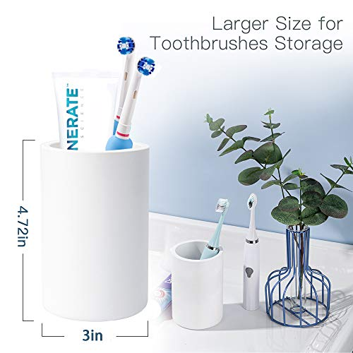 ULG Diatomite Toothbrush Holder Stand, Toothbrush Toothpaste Organizer, White