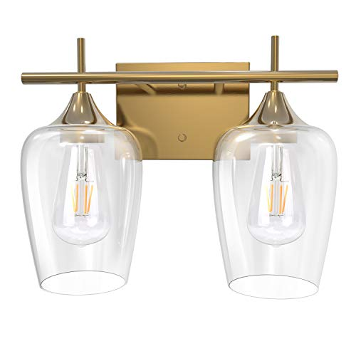 JACKYLED UL-Listed 2-Light Bathroom Vanity Light Fixtures