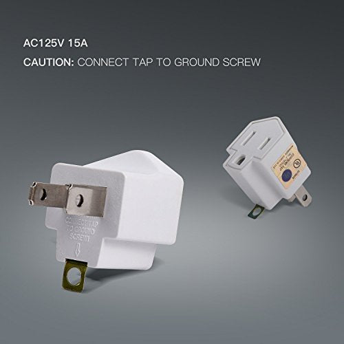 JACKYLED UL 3-Prong Adapter Converter Fireproof Material