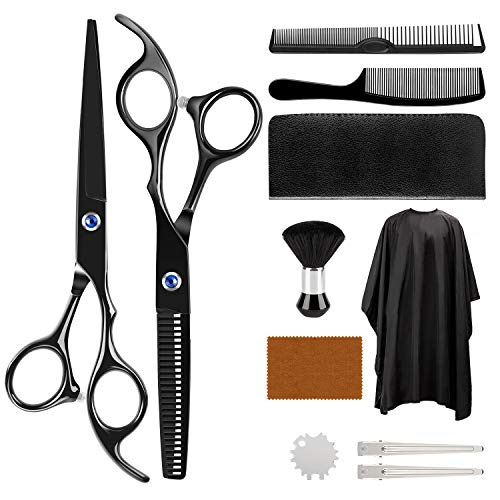 Hair Cutting Scissors Kit, ULG 11Pcs Hair Cutting Scissors Set Professional, Haircut Kit