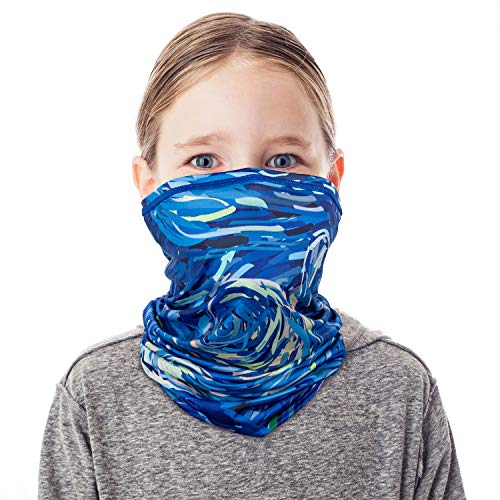 PACEARTH Face Cover Mask Bandana Neck Gaiter Scarf, starry sky 01, adult/kid