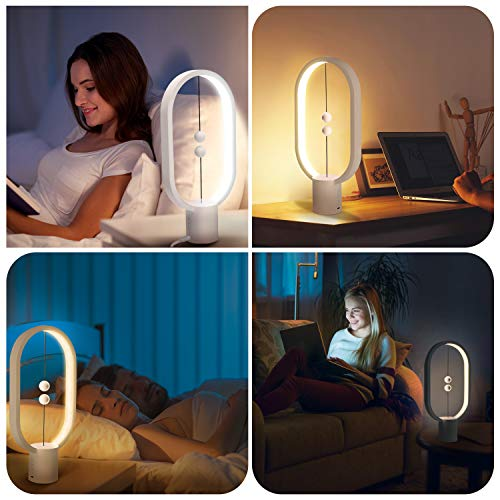 JACKYLED Balance LED Table Lamp USB Charging, Mid-air Switch