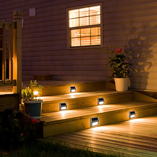 JACKYLED 2-Pack LED Solar Powered Weatherproof Outdoor Lighting