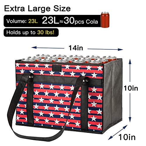 Reusable Grocery Bags ULG Collapsible Heavy Duty Shopping Tote Bags 3 Pack Extra Large Grocery Shopping Box Bags Storage Bins Tote Bags with Reinforced Handles