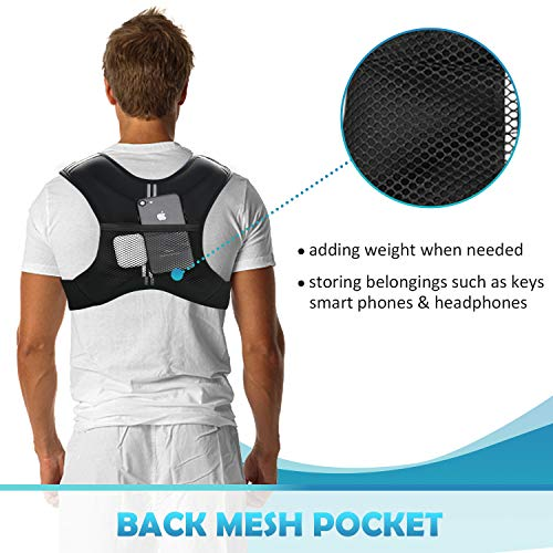 PACEARTH Weighted Vest with Ankle/Wrist Weights 6/12/16lbs Adjustable Body Weight Vest
