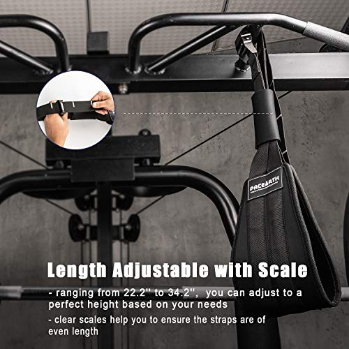 PACEARTH Adjustable Ab Straps with Scale for Ab Muscle Building