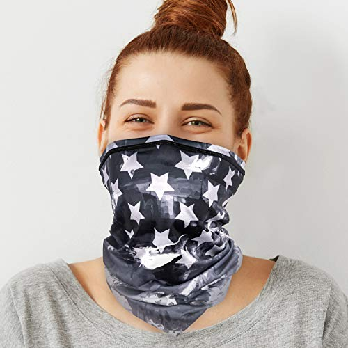 PACEARTH Face Cover Mask Bandana Neck Gaiter Scarf, US flag 11, Adult/Kid