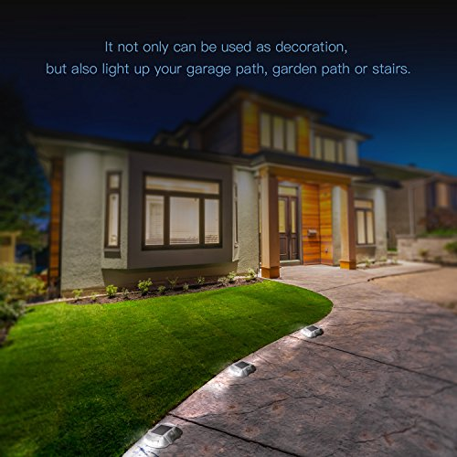 JACKYLED Solar 8-Pack Dock Path Road White Brightness