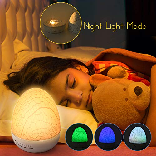 Rechargeable Night Light Projector with 6 Films, Remote Control and Timer, SUPERDANNY