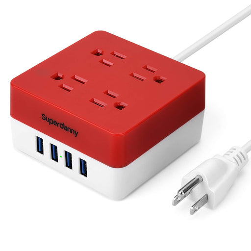 SUPERDANNY 9.8ft Surge Protector Power Strip