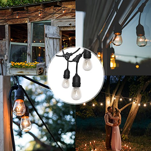 SUPERDANNY 52FT Outdoor String Lights