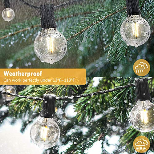 SUPERDANNY 52ft Shatterproof LED S14 Outdoor String Lights and 25ft LED G40 Lighting String