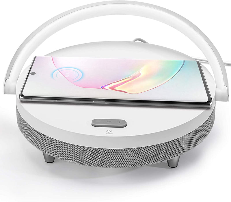 Portable Bluetooth Speaker with Wireless Charger and LED Night Light JACKYLED
