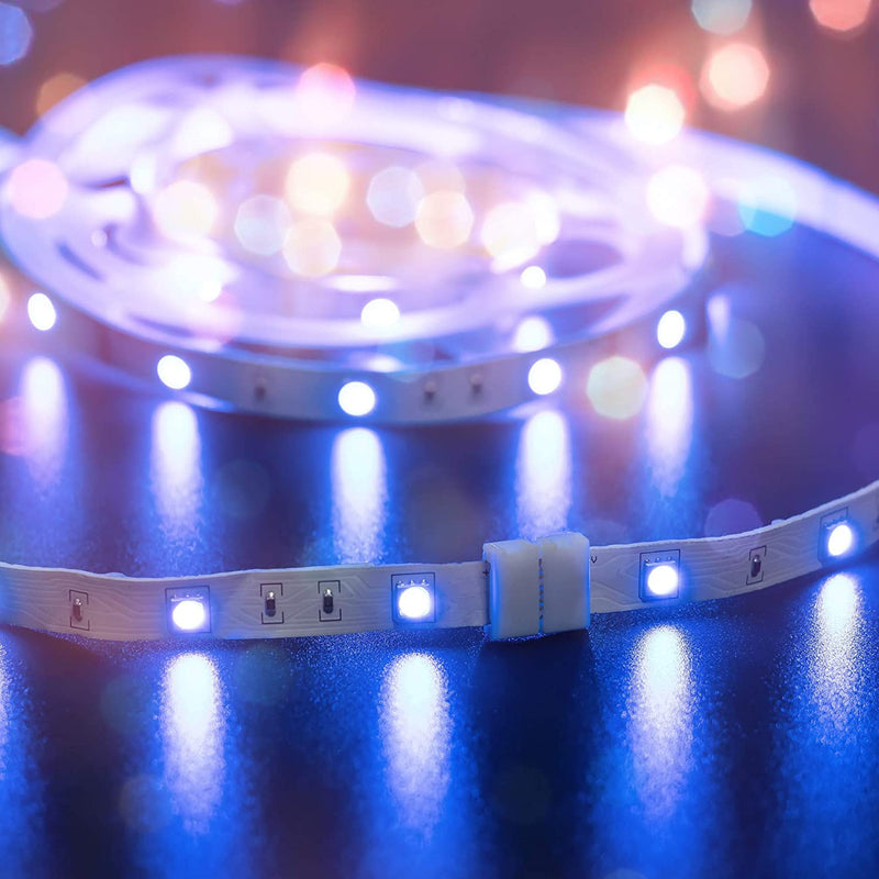 10 Pcs 4-Pin RGB LED Light Strip Connectors JACKYLED