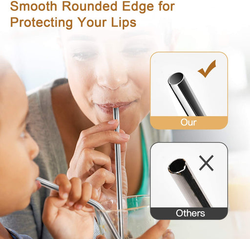 【$3.39 with 500 points】ULG 16-Pack Reusable Stainless Steel Straws