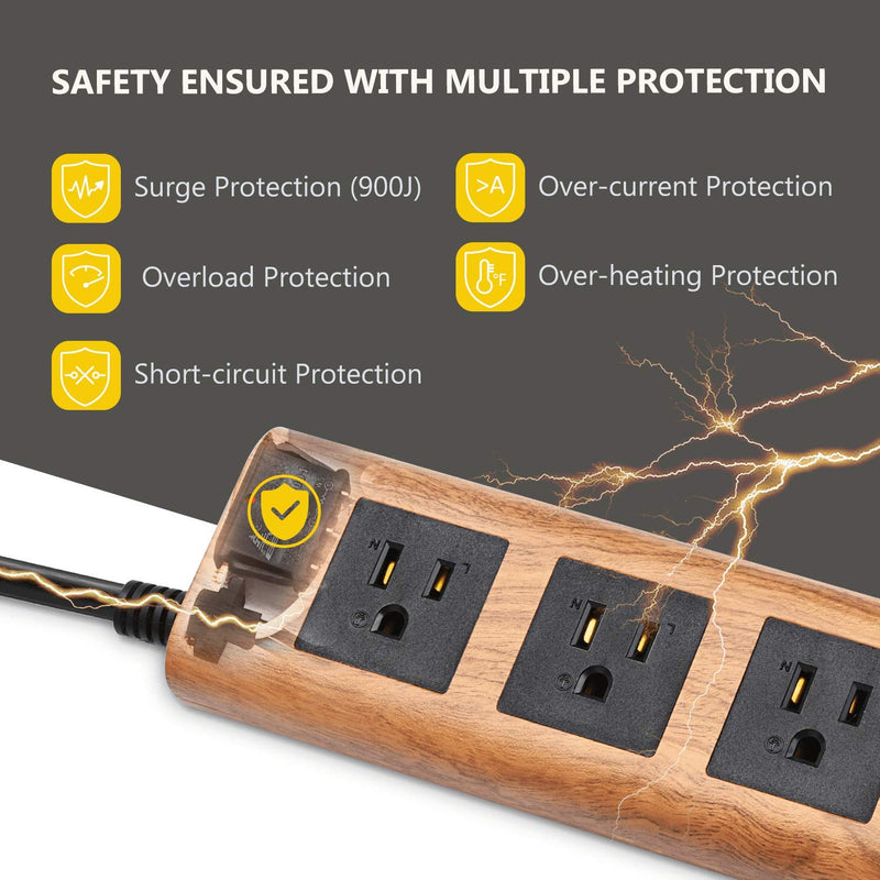 SUPERDANNY Surge Protector Power Strip