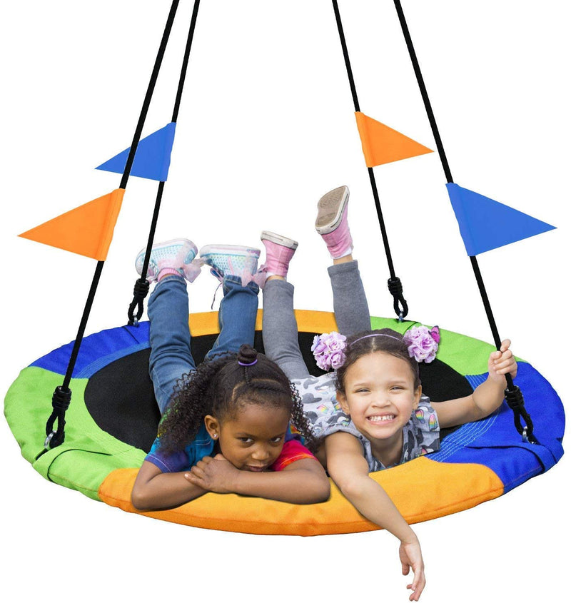 PACEARTH 40 Inch Saucer Tree Swing Flying 660lb Weight Capacity