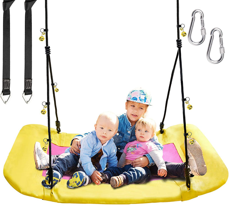 PACEARTH Giant Platform Tree Swing for Kids and Adults Support 660lb
