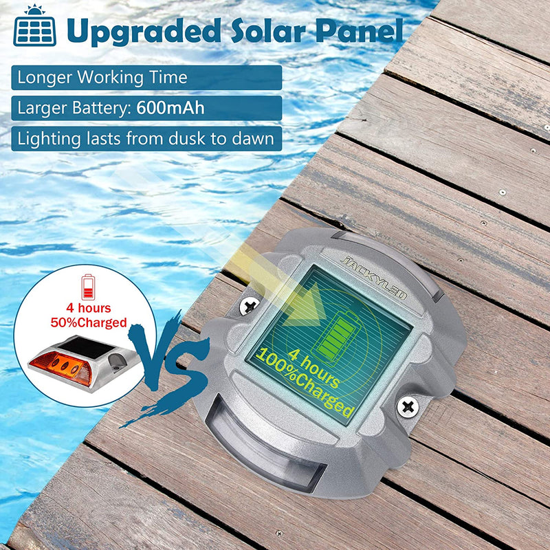 Upgraded Solar Driveway Markers with Switch JACKYLED  6/12-Pack