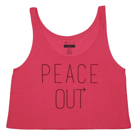 Peace Out Cropped Tank