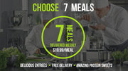 Choose 7 Meals / Delivery