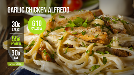 C. Garlic Chicken Alfredo (LG)