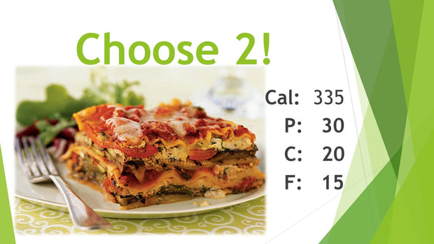 Choose 2! (Bfast/Lunch/Din)