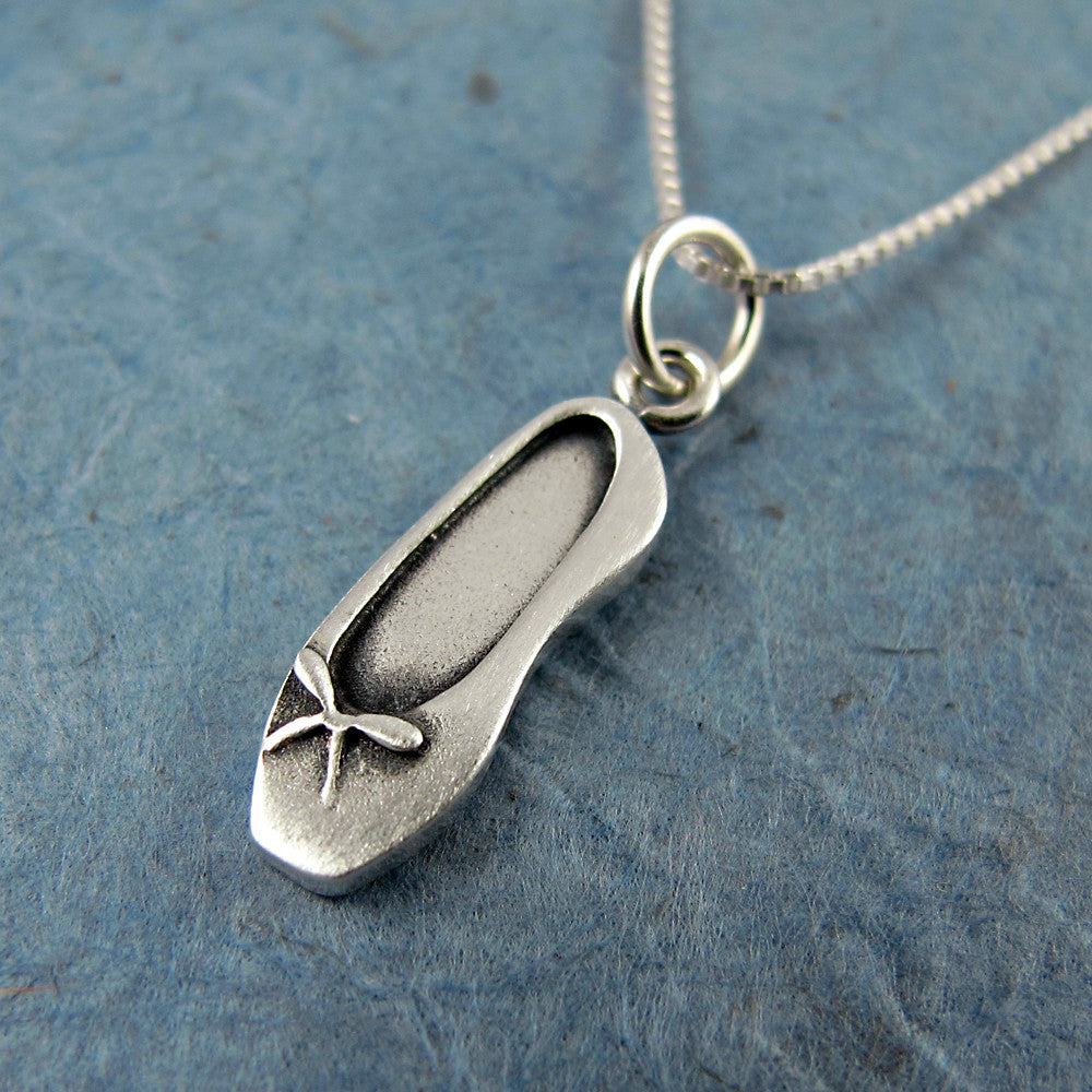 Ballet slipper pendant / necklace