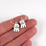 Bichon Frisé earrings