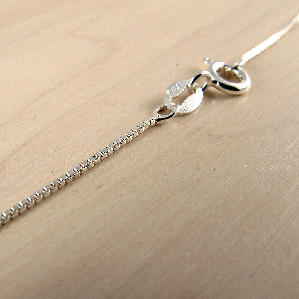 Sterling silver .8 mm box chain