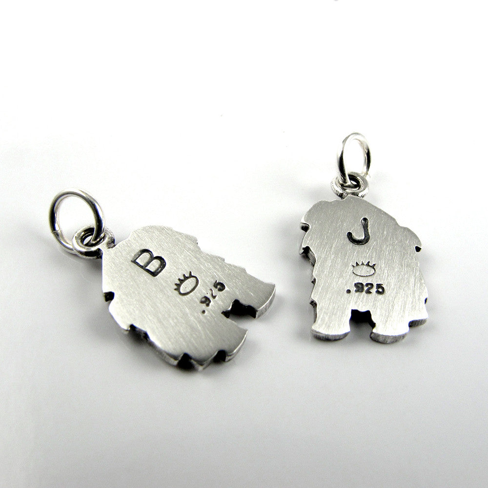 Stamp an initial on the back of your pendant / charm