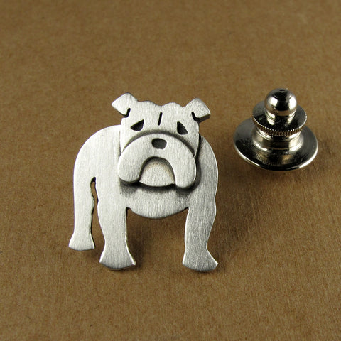 English bulldog pin