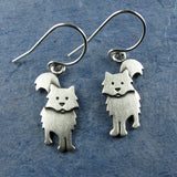 Fuzzy cat earrings