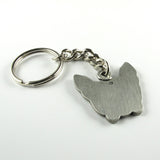 French bulldog keychain - pewter