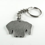 Labrador retriever keychain - pewter