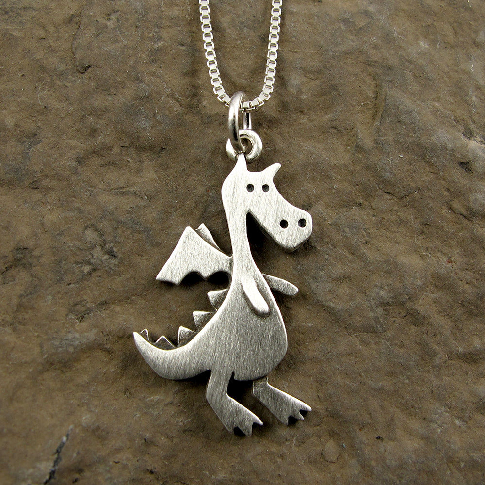 Dragon pendant / necklace (larger size)