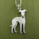 Greyhound pendant / necklace (larger size)