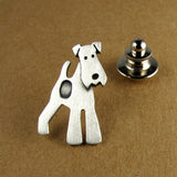 Wire fox terrier pin