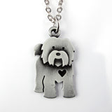 Tibetan Terrier with heart - pendant / keychain / ornament