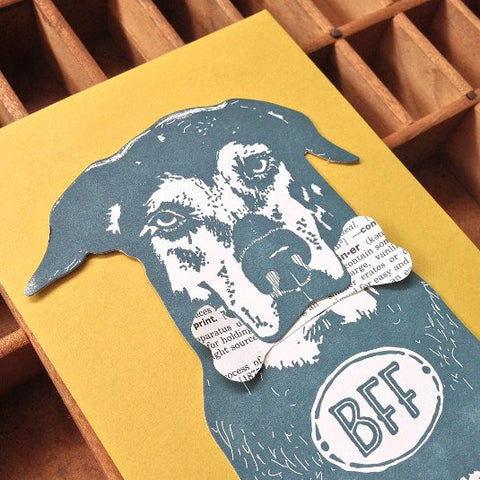BFF Dog Letterpress Card