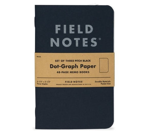 Field Notes: Pitch Black 3 Pack
