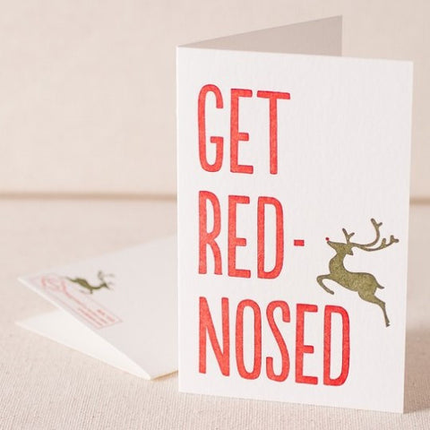 Red Nosed Letterpress (Set 6)