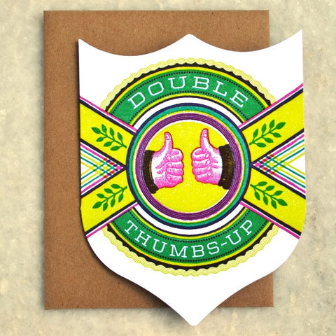 Double Thumbs Up Badge