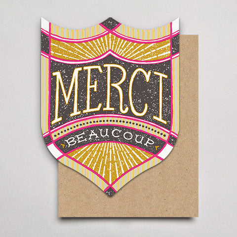 Merci Beaucoup Badge (Single or Box 6)