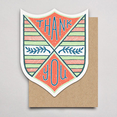 Thank You Laurel Badge (Single or Box 6)