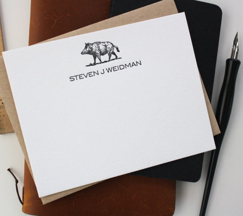 Letterpress Boar Stationery (25)