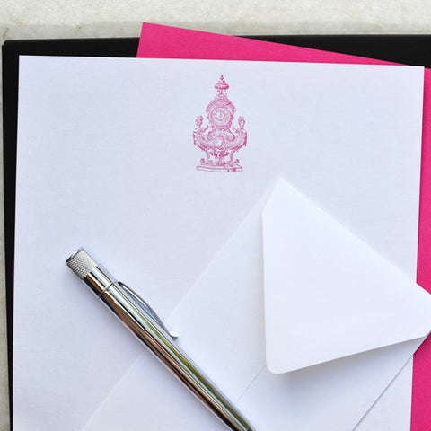 Face Time Fuschia Stationery (Set 12)