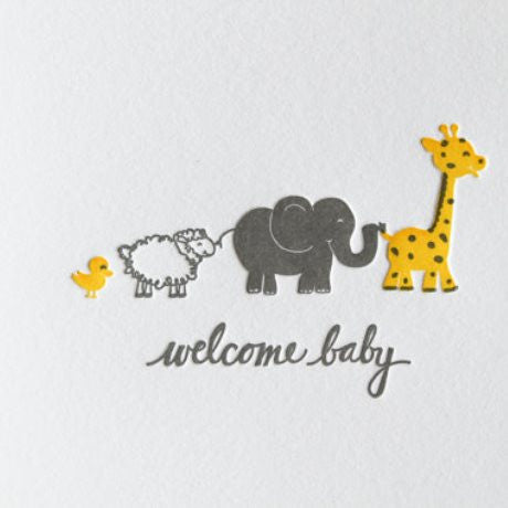 welcome baby animals stargrass paper co