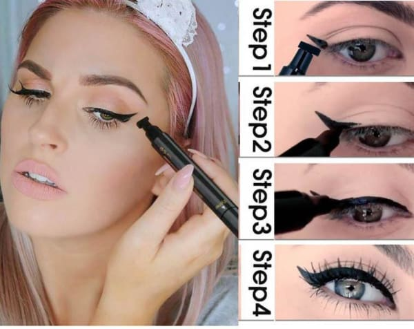 2 in 1 Double Head Eyeliner With Winged Stamp
