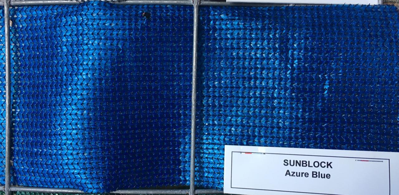 Shade Cloth Azure Blue 3m(W) - Fence Tech